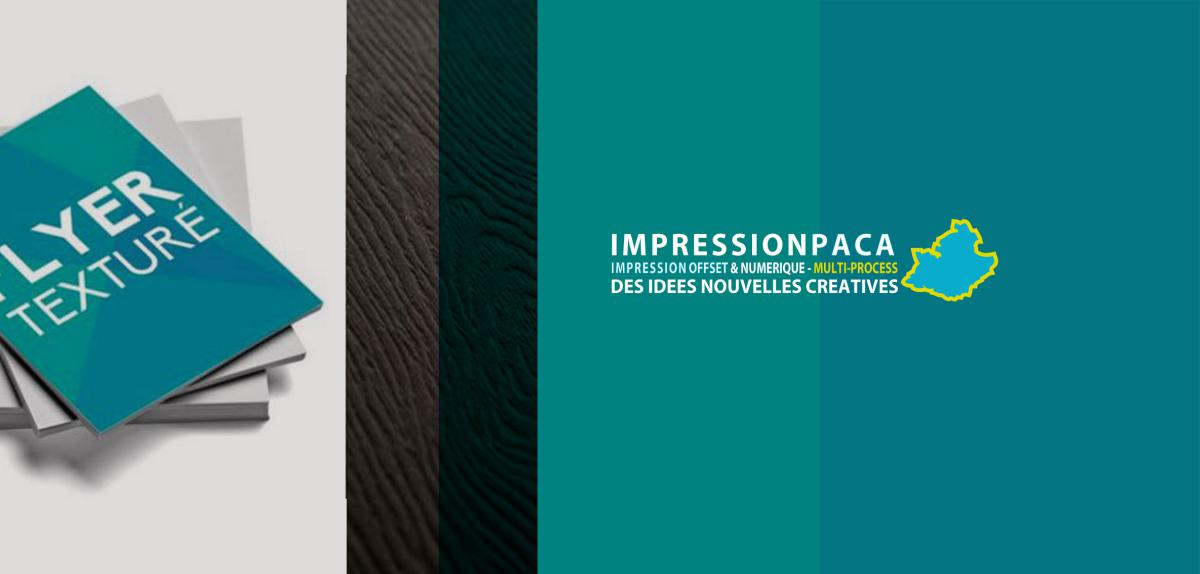 impression flyer texturé bois