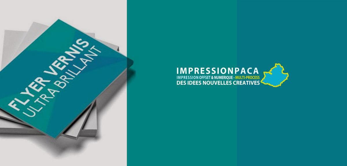 impression flyer vernis utra brillant