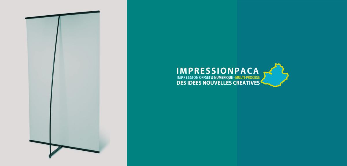 impression roll up L-Banner