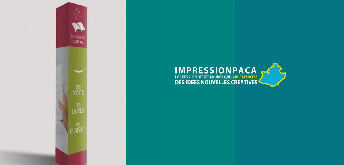 impression plv totem carré grand format